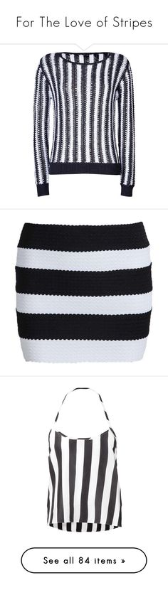 """""""For The Love of Stripes"""" by sarahbatcrap ❤ liked on Polyvore featuring tops, sweaters, stripes, striped sweater, theory sweater, black and white striped top, long sleeve sweater, black white striped sweater, skirts and sheinside"""