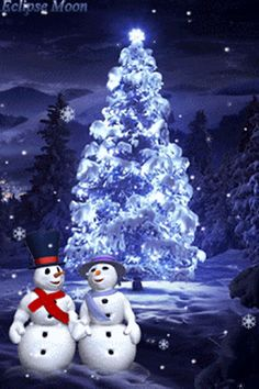 37 Cool Christmas Gifs To Get You In The Holiday Spirit — Style Estate Merry Christmas And Happy New Year, Blue Christmas, Christmas Snowman, Christmas Greetings, Winter Christmas, Christmas Lights, Vintage Christmas, Christmas Time, Christmas Decorations