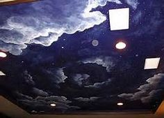 1000 images about ceilings night sky on pinterest - Night sky painting on ceiling ...