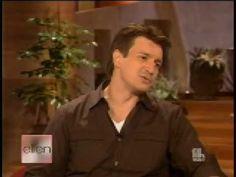 Nathan Fillion on Ellen 10/04/07 - Oh. My. God. The cat story!!!!