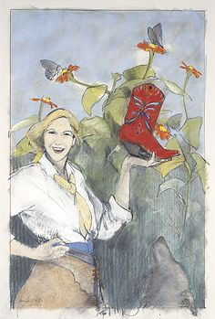 Donna Howell-Sickles : Giclees :  Butterfly Boots III