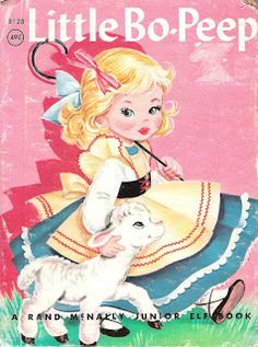 Restoring Her Legacy: Little Bo-Peep -all of the inside pages here Vintage Coloring Books, Vintage Children's Books, Vintage Cards, Children's Book Illustration, Illustrations, Old Children's Books, Little Bo Peep, Vintage Nursery, Painted Books