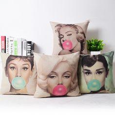 Super Star Cotton Decorative Throw Pillow