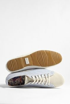 406bed4f2b2a0c Paul Smith Shoes - Blue Ticking Stripe Canvas Musa Plimsolls