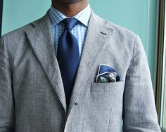 grey suit checkered shirt - Google Search