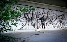 Street Art Fused With Architectural Lines And Imaginary Creatures - DesignTAXI.com