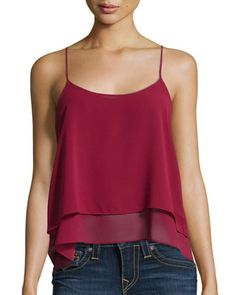 Tiered+Chiffon+Tank,+Wine+by+T+Bags+at+Neiman+Marcus+Last+Call.