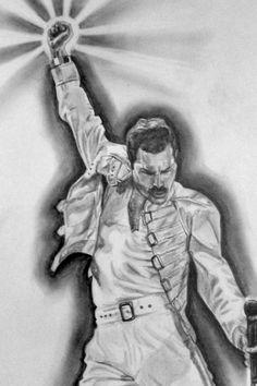 freddie mercury drawing by on DeviantArt freddie mercury drawing by Freddie Mercury Tattoo, Queen Freddie Mercury, Fred Mercury, Queen Drawing, Queens Wallpaper, Queen Tattoo, Queen Love, Queen Art, Rock Legends
