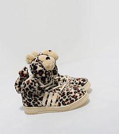 b7d0653a26b0 Adidas Originals x ObyO Jeremy Scott Leopard Hi Kids. (I m pretty sure the  leopard heads are removable