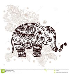 Ethnic Elephant Illustration - Download From Over 27 Million High Quality Stock Photos, Images, Vectors. Sign up for FREE today. Image: 34488428