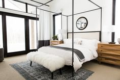 Master+Suite+Tour+||+Studio+McGee.jpg - - I like the mirror above the bed.