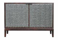 woven front two door chest