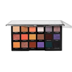 Shop e. This large eyeshadow palette features bright eyeshadow colors alongside neutral eyeshadow colors. Eyeshadow For Blue Eyes, Bright Eyeshadow, Neutral Eyeshadow, Colorful Eyeshadow, Smoky Eyes, Best Drugstore Makeup, Opposites Attract, Eyeshadow Brushes, Eyeshadows