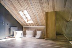 Новыйl Дизайн дома с мансардой снаружи и внутри (170+ Фото) - Варианты интерьера комнаты