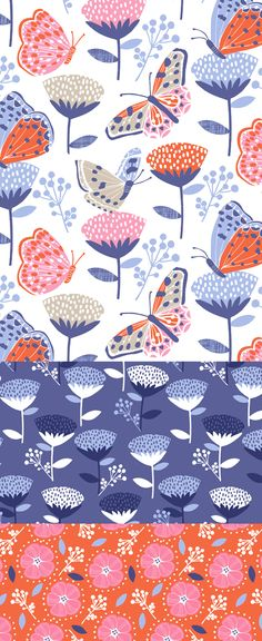 wendy kendall designs – freelance surface pattern designer » butterfly garden