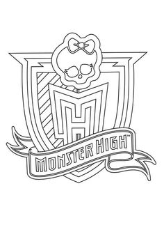Monster High Logo coloring page.