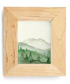 Off-White Green Mountain Print #zulily #zulilyfinds