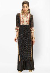 Admyrin Black Printed Kurti Online Shopping Store