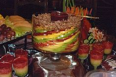 Fancy fruit platter. Might be hard to get the piece you want though.