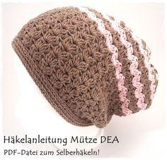 Häkle dir deine eigene lässige Mütze mit wunderschönem Muster und Struktur in angesagter langer Form!   Die Slouchy Mütze ist das angesagteste Accessoire in dieser Saison - und DIESE Mütze hast nur...