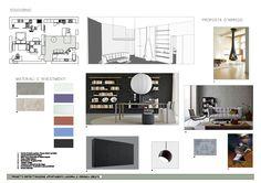 Corsi Interior Design e Home Styling Milano: diventare interior designer Interior Design Presentation, Interior Design Boards, Interior Design Inspiration, Furniture Board, Furniture Layout, Mood Board Interior, Boutiques, Proposal, Interior Architecture