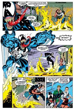 Venom didn't start the fire. It was always burning since Silver Sable's Wild Pack were turning (from Amazing Spider-Man #375)