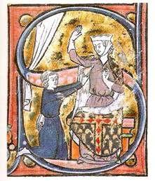Cantor. Le Roman de la Poire, Paris c. 1260-70. BNF, Paris. French Manuscript - MS fr 1584,fol4IV.