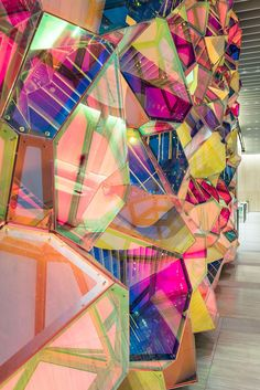 SOFTlab animates one state street lobby with kaleidoscopic wall structure