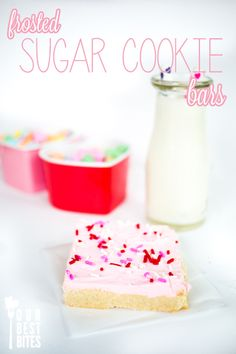 Frosted Sugar Cookie Bars {with Fluffy Buttercream Frosting}
