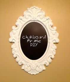 Emma Courtney: Chalkboard Frame DIY