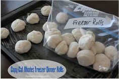 Check out this Copy Cat Rhodes Freezer Dinner Rolls Recipe. You can make these once then freeze them and pull out just the amount you need for dinner each night.