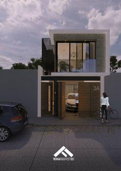 Minimal House Design, Modern Small House Design, Simple House Design, House Front Design, Small House Exteriors, Modern Exterior House Designs, 2 Storey House Design, Duplex House Design, Luxury Home Accessories