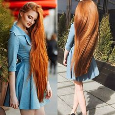Redhead rapunzel😍🔥 the length and shine of her hair is beautiful💕❤️ . Long Red Hair, Girls With Red Hair, Very Long Hair, Girls With Long Hair, Beautiful Long Hair, Gorgeous Hair, Beautiful Redhead, Beautiful Women, Rapunzel Hair