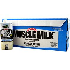 CytoSport Muscle Milk RTD Vanilla Creme 17 oz 12 ct | Regular Price: $55.99, Sale Price: $45.99 | OvernightSupplements.com | #onSale #supplements #specials #CytoSport #ProteinRTDs  | Muscle Milk Ready to Drink RTD is a protein enhanced functional beverage that promotes recovery from exercise lean muscle growth and sustained energy Lactose and gluten free Muscle Milk takes the guesswork out of high performance nutrition by providing a blend of high quality proteins complex car