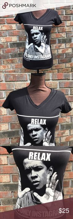 Black Funny Instagram Cotton Tee NWOT   Excellent Condition   All Black   White Picture & Lettering   Short Sleeve   Lightweight   V Neck   Length: 18ins   Bust: 33ins   Sleeve Length: 5ins   100% Cotton   Next Level Apparel Tops Tees - Short Sleeve