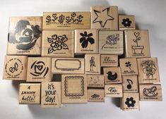 Stampin Up Rubber Stamp Lot of 25 Sentiments Botanical Flowers Rose Words Phrase #StampinUp