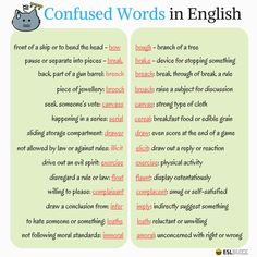 Confused Words in English 1/3