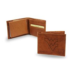 West Virginia Mountaineers NCAA Embossed Leather Billfold
