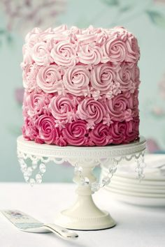 naked cake rosa