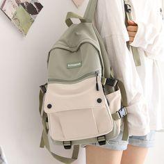 High School Bags, Cute School Bags, Bag To School, Stylish Backpacks, Girl Backpacks, Girls School Backpacks, Japanese Backpack, Aesthetic Bags, Estilo Preppy