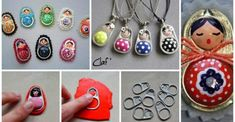 Make figures with polymer clay rings and cans