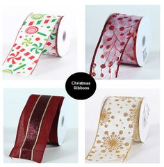 Christmas Ribbons Available!  Fill your stockings with our beautiful Christmas ribbon selection.  http://www.fuzzyfabric.com/specialty-ribbon/christmas-ribbon