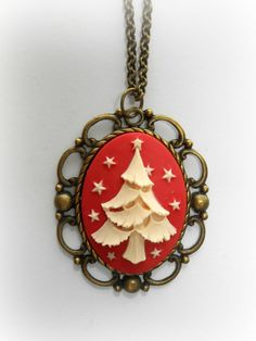 Christmas Tree Necklace on Etsy.