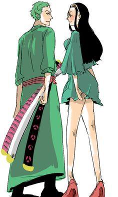 Cute Zoro and Robin One Piece Crew, One Piece Ship, One Piece Comic, One Piece Fanart, Zoro And Robin, Nico Robin, Manga Anime One Piece, I Love Anime, Best Anime Couples