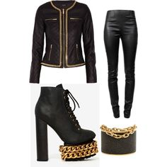 A fashion look from December 2014 featuring Morgan jackets, Alexander Wang leggings and Jeffrey Campbell ankle booties. Browse and shop related looks.