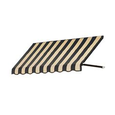 AWNTECH 10 ft. Dallas Retro Window/Entry Awning (16 in. H x 24 in. D) in
