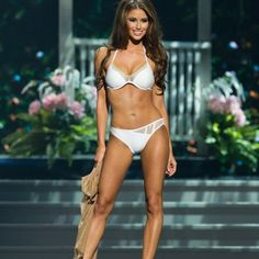 This swimsuit in White and Gold was also an official swimsuit of the Miss USA 2014 competition.  Kandice Pelletier designs and sells beautiful swimwear pieces based off of her experience as a former Miss New York and Miss National Sweetheart. If you're looking to take your pageant efforts to the next level, investing in one of Kandice Pelletier's swimsuits is an amazing step in the right direction.