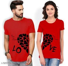 Couple Tshirts  Stylish Printed Couple T-shirts Fabric: Men Tshirt - Cotton Blend Women Tshirt - Cotton Blend Sleeves: Half Sleeves Are Included Size: Women : Tshirt - S - 36 in M - 38 in  L - 40 in  XL - 42  XXL - 44 in  Boy Tshirt - S M L XL XXL (Refer Size Chart  For Details) Length: Women Tshirt  : S - 25 in M - 26 in  L - 27 in  XL - 28  XXL - 29 in Men Tshirt -  S  M  L  XL XXL(Refer Size Chart) Type: Stitched Description: It Has 1 Piece Of Men's T-shirt & 1 Piece Of Women's T-shirt Work - Printed Country of Origin: India Sizes Available: MEN - S/ WOMEN - S, MEN - M/ WOMEN - S, MEN - L/ WOMEN - S, MEN - XL/ WOMEN - S, MEN - XXL/ WOMEN - S, MEN - S/ WOMEN - M, MEN - M/ WOMEN - M, MEN - L/ WOMEN - M, MEN - XL/ WOMEN - M, MEN - XXL/ WOMEN - M, MEN - S/ WOMEN - L, MEN - M/ WOMEN - L, MEN - L/ WOMEN - L, MEN - XL/ WOMEN - L, MEN - XXL/ WOMEN - L, MEN - XS/ WOMEN - XL, MEN - S/ WOMEN - XL, MEN - M/ WOMEN - XL, MEN - L/ WOMEN - XL, MEN - XL/ WOMEN - XL, MEN - XXL/ WOMEN - XL, MEN - S/ WOMEN - XXL, MEN - M/ WOMEN - XXL, MEN - L/ WOMEN - XXL, MEN - XL/ WOMEN - XXL, MEN - XXL/ WOMEN - XXL   Catalog Rating: ★4 (429)  Catalog Name: Stylish Printed Couple T-shirts CatalogID_770255 C79-SC1940 Code: 134-5205402-1701