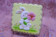 Easter cookies bunny flowers