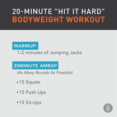 20-Minute Bodyweight Workout